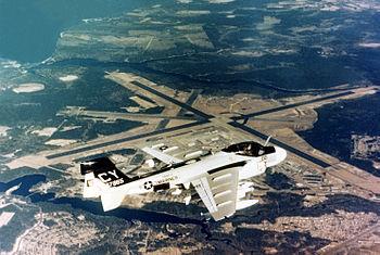 A U.S. Marine Corps Grumman EA-6A Intruder (Bu...