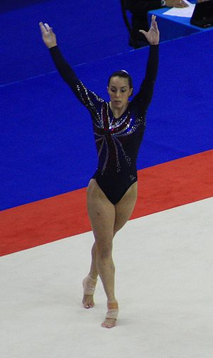 Beth Tweddle - Tweddle during her win in the floor final of the 2009 World Championships