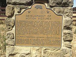 Photo of Eadweard Muybridge brown plaque