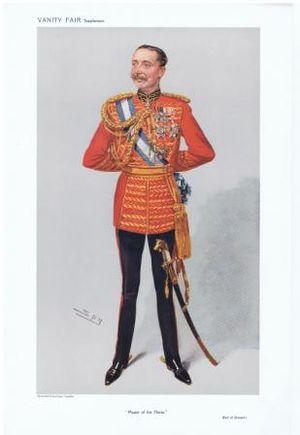 "Bernard Forbes, 8th Earl of Granard - The Earl of Granard caricatured by ""Spy"" in Vanity Fair, 1908"