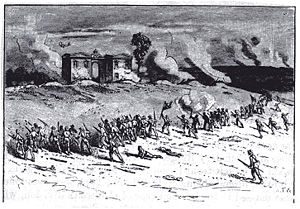 Cemetery Hill - Jubal Early's attack on East Cemetery Hill, July 2, 1863 (engraving from The Century Magazine).
