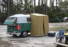 VW bus with attached small tent & Volkswagen Westfalia Camper - Wikipedia