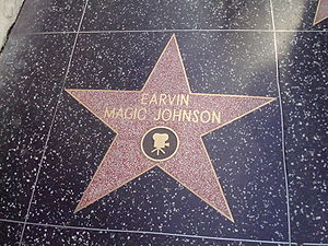 Magic Johnson - Magic Johnson's star on the Hollywood Walk of Fame