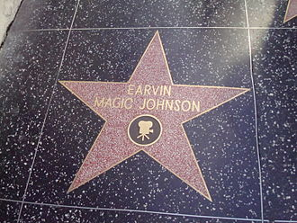 Magic Johnson - Magic Johnson's star on the Hollywood Walk of Fame