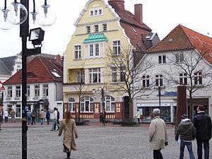 Eckernförde - Eckernförde Rathausmarkt (market place)