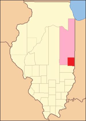 Edgar County, Illinois - Image: Edgar County Illinois 1823