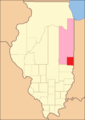 Edgar County (1823), with unorganized territory attached to it.[4]