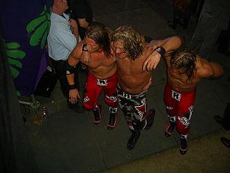 Curt Hawkins - Hawkins and Ryder helping an injured Edge at WrestleMania XXIV