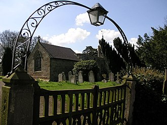 Robert Kaye Greville - The small church of St. James in Edlaston in Derbyshire