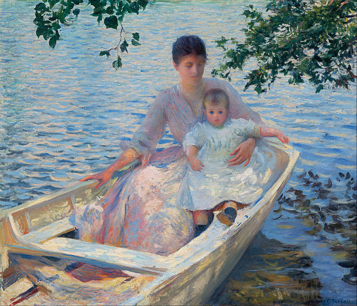 File:Edmund Charles Tarbell - Mother and Child in a Boat - Google Art Project.jpg