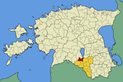 Põdrala Parish within Valga County.