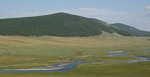 Eg River - Eg River some kilometers south of Khatgal