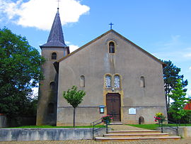 The church in Pommérieux