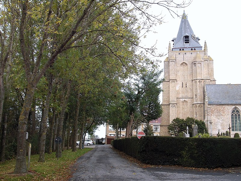 Eglise d'Houtem dans le Westhoek