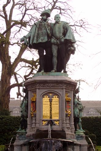 Lamoral, Count of Egmont - Statue of Egmont and Hoorne, Petit Sablon Square, Brussels.