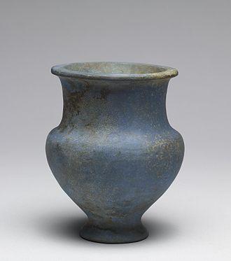 Egyptian blue - Egyptian blue ceramic ware, New Kingdom (1380-1300 BC)