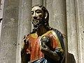 El Salvador, escultura de piedra policromada, hacia el siglo XIII, Catedral de Oviedo, Asturias, España.jpg