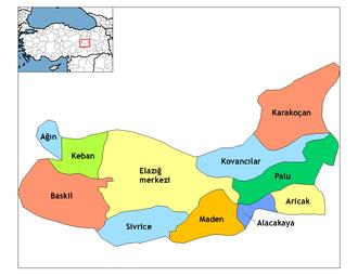 Elazığ Province - Elazığ districts