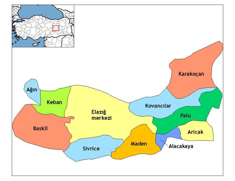 Datei:Elazığ districts.png