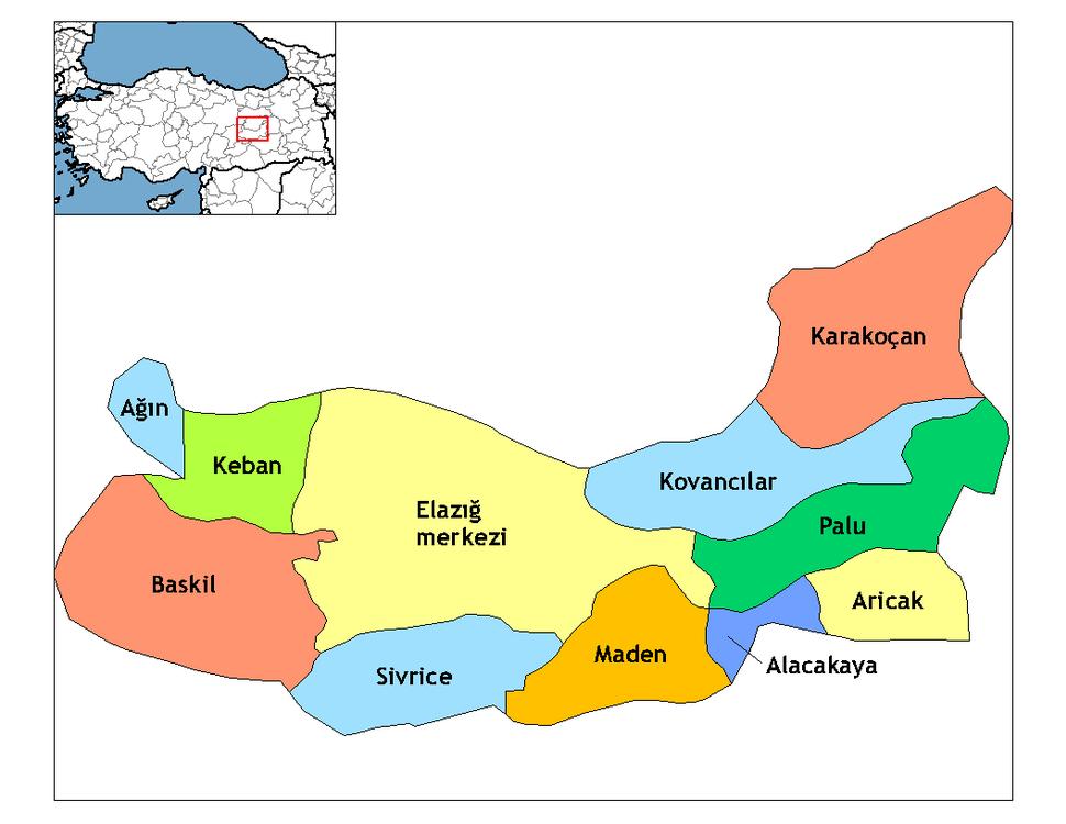Elazığ districts