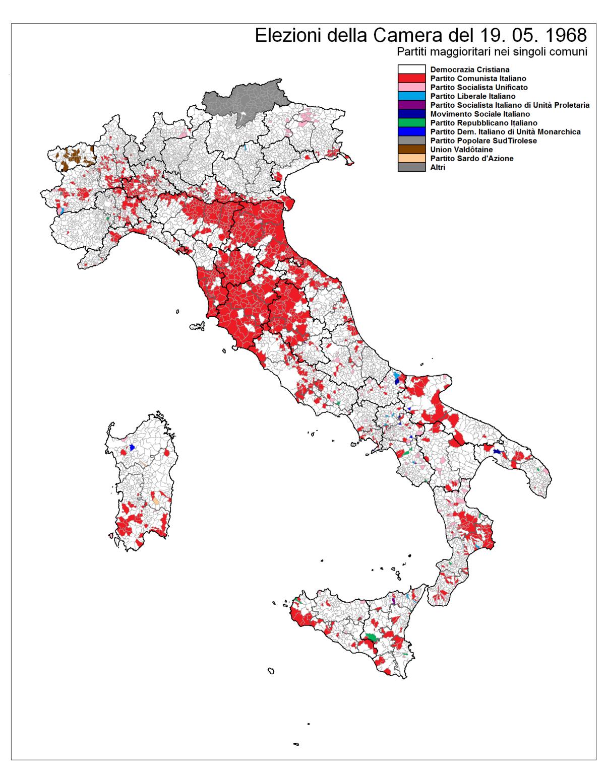 Elezioni politiche italiane del 1968 wikipedia for Il parlamento italiano wikipedia
