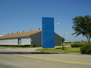 Ellington Airport (Texas) - Entrance to the airport