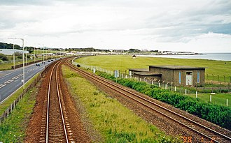 Elliot Junction rail accident - Elliot Junction site, looking north-east