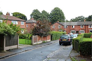 Burnage - An example of council housing on Elmhurst Drive, Burnage