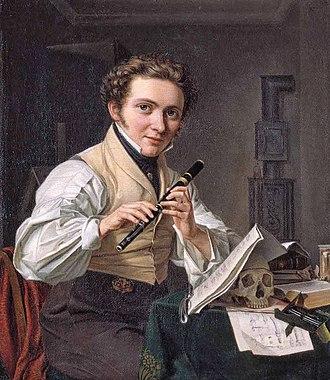 Emil Bærentzen - Self-portrait 1825