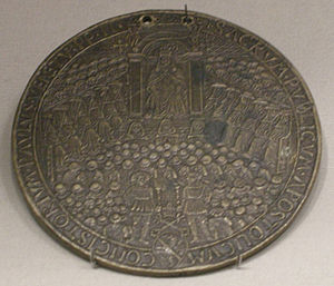Papal consistory - Medal of the consistory of Pope Paul II (c. 1466 or 1467)