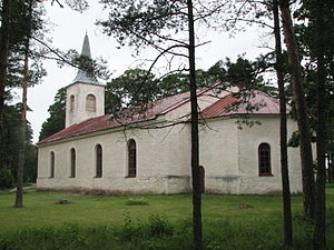 Emmaste - The church in Emmaste.