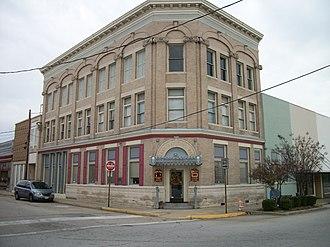 Belfield–Emporia Historic District - The former Emporia First National Bank