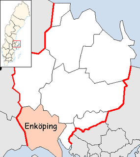 Enköping Municipality in Uppsala County.png