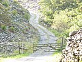 Entrance Gate and Track to Nant-y-Fron Quarry - geograph.org.uk - 252649.jpg