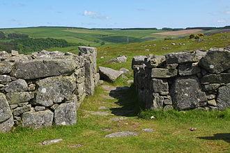 Edin's Hall Broch - Entrance passage