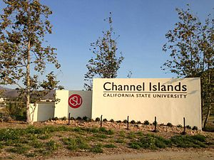 California State University Channel Islands - Image: Entrance sign CSUCI