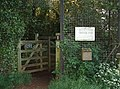 Entrance to Farthinghoe Nature Reserve - geograph.org.uk - 436371.jpg