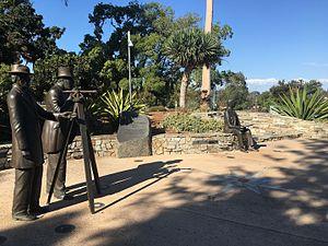 Ephraim Morse - A statue of Ephraim Morse, far left, in Sefton Plaza of San Diego, California's Balboa Park.