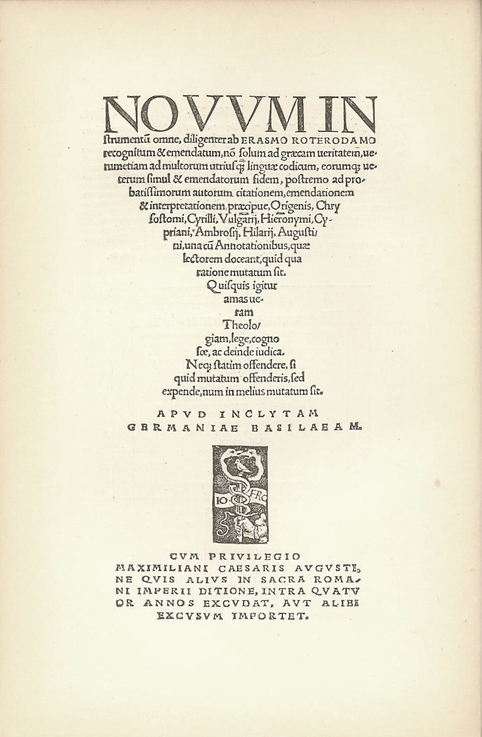 ErasmusText TitlePage