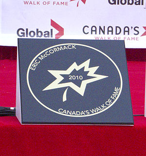 Eric McCormack - McCormack's star on Canada's Walk of Fame