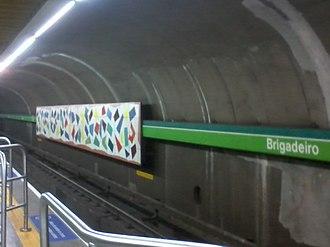 Line 2 (São Paulo Metro) - Brigadeiro Station platform