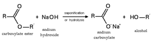 Ester - Ester saponification (basic hydrolysis)