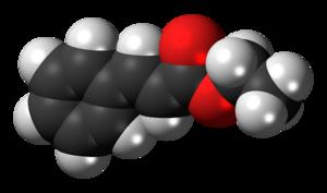 Ethyl cinnamate - Image: Ethyl cinnamate 3D spacefill