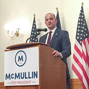 Evan McMullin presidential campaign, 2016 - McMullin campaigning in Provo.