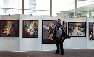 Exhibition Chernobyl from eyes of Belarusian artists in NATO Headquarters in Brussel 2000 Viktar Smataŭ.jpg