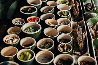 Bario - A range of exotic foods at a Bario food festival
