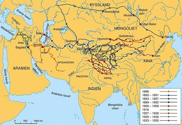 karta över asien på svenska Sven Hedin – Wikipedia karta över asien på svenska