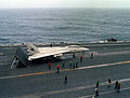 F-14A VF-142 on cat USS Eisenhower (CVN-69) 1980.JPEG
