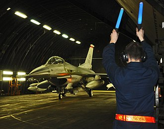 52nd Fighter Wing - General Dynamics F-16C Block 50D Fighting Falcon 91-0361 taxiing out from at Tab-Vee at Spangdahlem on 20 March 2011 in support of Operation Odyssey Dawn