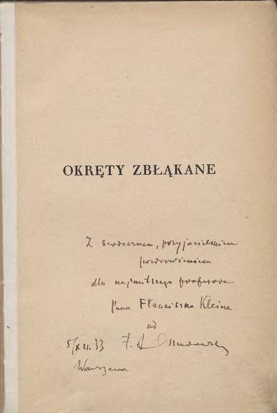 File:F. A. Ossendowski - Okręty zbłąkane.djvu